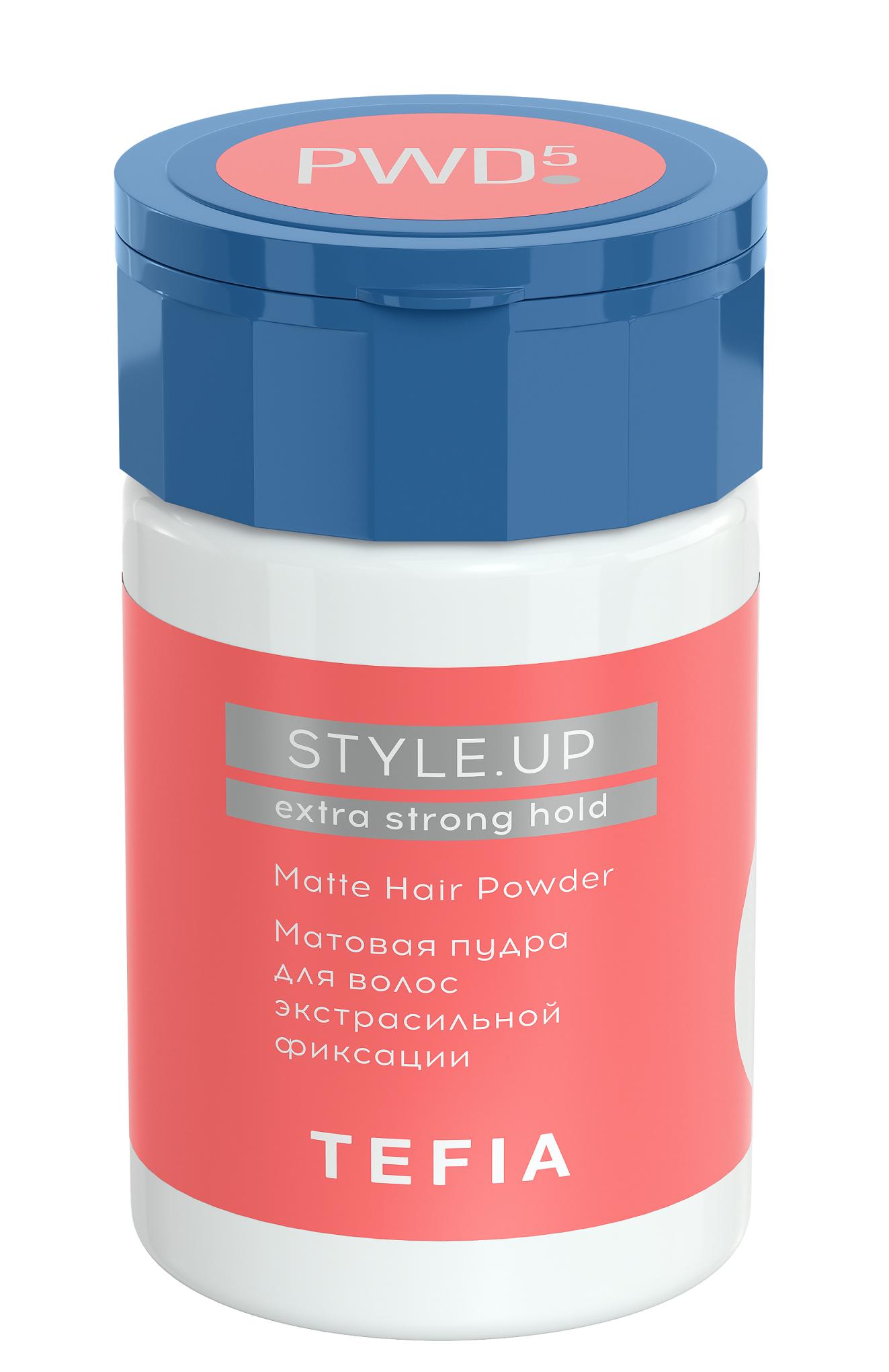 TEFIA Пудра матовая для волос экстрасильной фиксации / STYLE.UP 10 г.