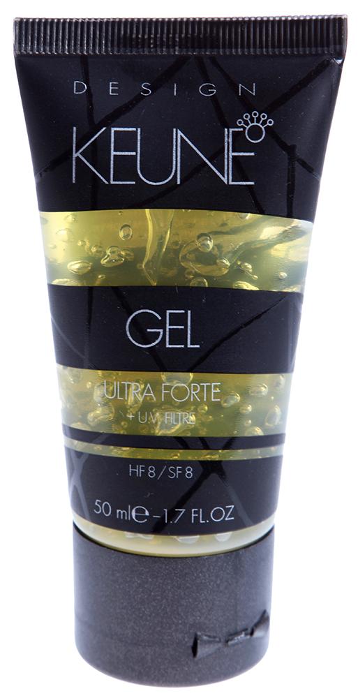 KEUNE Гель Ультра Форте / ULTRA FORTE GEL 50млГели<br>Гель для волос Ультра Форте придает волосам фиксацию, объем и блеск. Волосам может быть придан любой стиль. Гель для волос Ультра Форте можно наносить как на мокрые, так и на сухие волосы, он превосходно подходит для придания современного стиля прическе, для придания волосам эффекта мокрых волос и укладки. Ультрафиолетовый фильтр защищает волосы от выцветания и вредного воздействия солнца. Фактор фиксации 15. Придает волосам блеск. Ультрафиолетовый фильтр защищает волосы от выцветания и вредного воздействия солнечных лучей. Может быть использован для стайлинга и укладки. Активный состав: УФ-фильтр. Применение: Наносите на мокрые или сухие волосы. Выполните укладку или стайлинг.<br><br>Объем: 50<br>Типы волос: Сухие