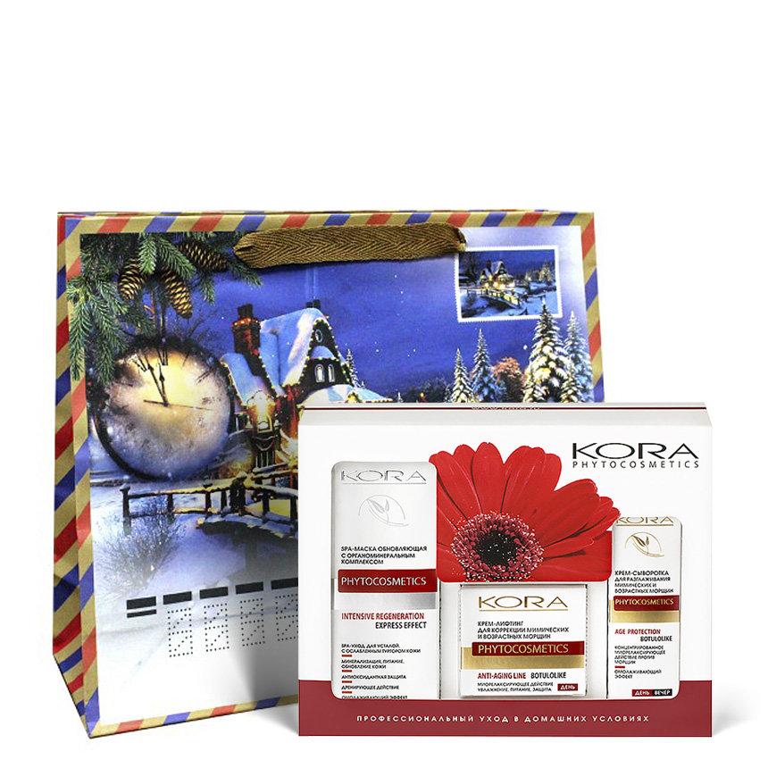 KORA Набор SPA лифтинг уход для лица (spa-маска 100 мл, крем-лифтинг 50 мл, крем-сыворотка 30 мл)