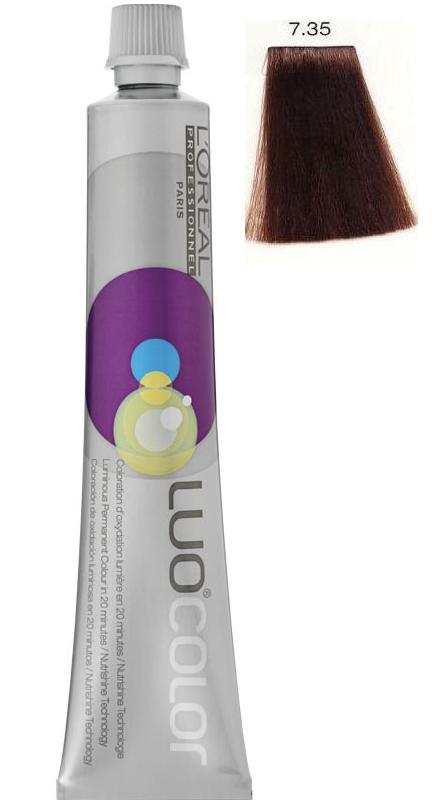 LOREAL PROFESSIONNEL 7.35 краска для волос / ЛУОКОЛОР 50мл~