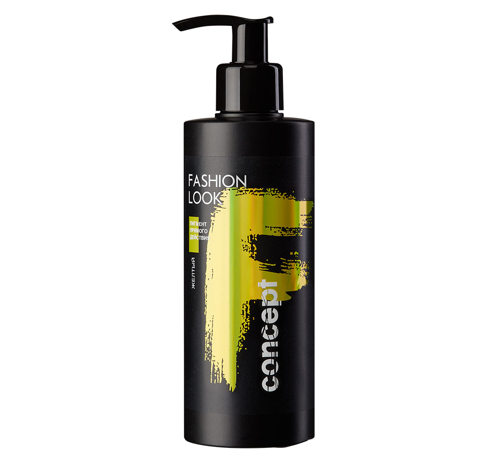 Купить CONCEPT Пигмент прямого действия, желтый / Fashion Look Direct pigment Yellow 250 мл