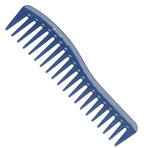 DEWAL BEAUTY Гребень волна синий 18 см