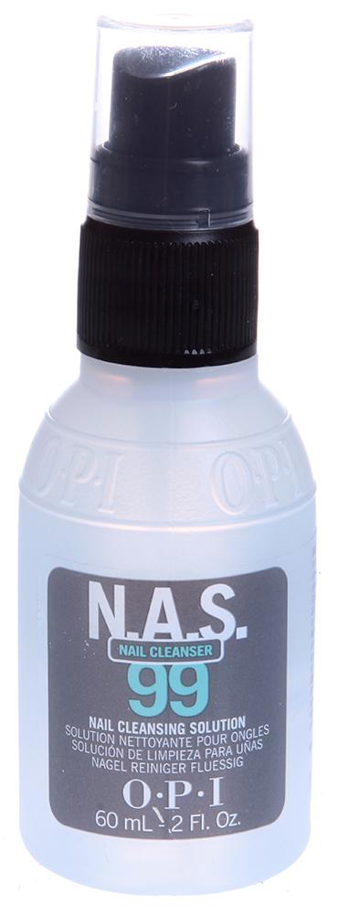 OPI Жидкость дезинфицирующая для ногтей / N.A.S.99 60млСнятие лака<br>Обязательно использовать для дезинфекции и обезжиривания ногтей, инструментов в процедурах маникюра/педикюра и моделирования искусственных ногтей. Содержит Тимол, предотвращающий развитие грибков и бактерий. Не содержит воды и удаляет излишки влаги и масла с поверхности ногтевой пластины.    Способ применения: Наносить препарат на ногти и инструменты с расстояния примерно в 15 см. Не допускать попадания препарата на типсы. Использовать как дезинфектор при любых процедурах. Беречь от нагрева и открытого огня. Плотно закрывать после использования. Форма выпуска: 60мл<br><br>Объем: 60