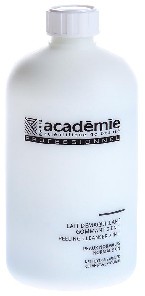 ACADEMIE Молочко мягкий пилинг 2 в 1 / HYDRADERM 500млПилинги<br>Легко снимает макияж, прекрасно очищает, выравнивает кожный рельеф РЕЗУЛЬТАТ: кожа свежая, сияющая, обновленная ПРИРОДА КОЖИ: для любой природы кожи, особенно для дегидратированной Активные ингредиенты: Очищающий агент 3 % Оригинальная яблочная вода 1 % Экстракт свеклы 1 % Алоэ вера 0.5 % Полиэтиленовые шарики 0.35 % Экстракт мальвы 0.2 % Экстракт овса 0.2 % Активные компоненты 6.25 %<br><br>Вид средства для лица: Очищающий<br>Типы кожи: Сухая и обезвоженная<br>Консистенция: Мягкая