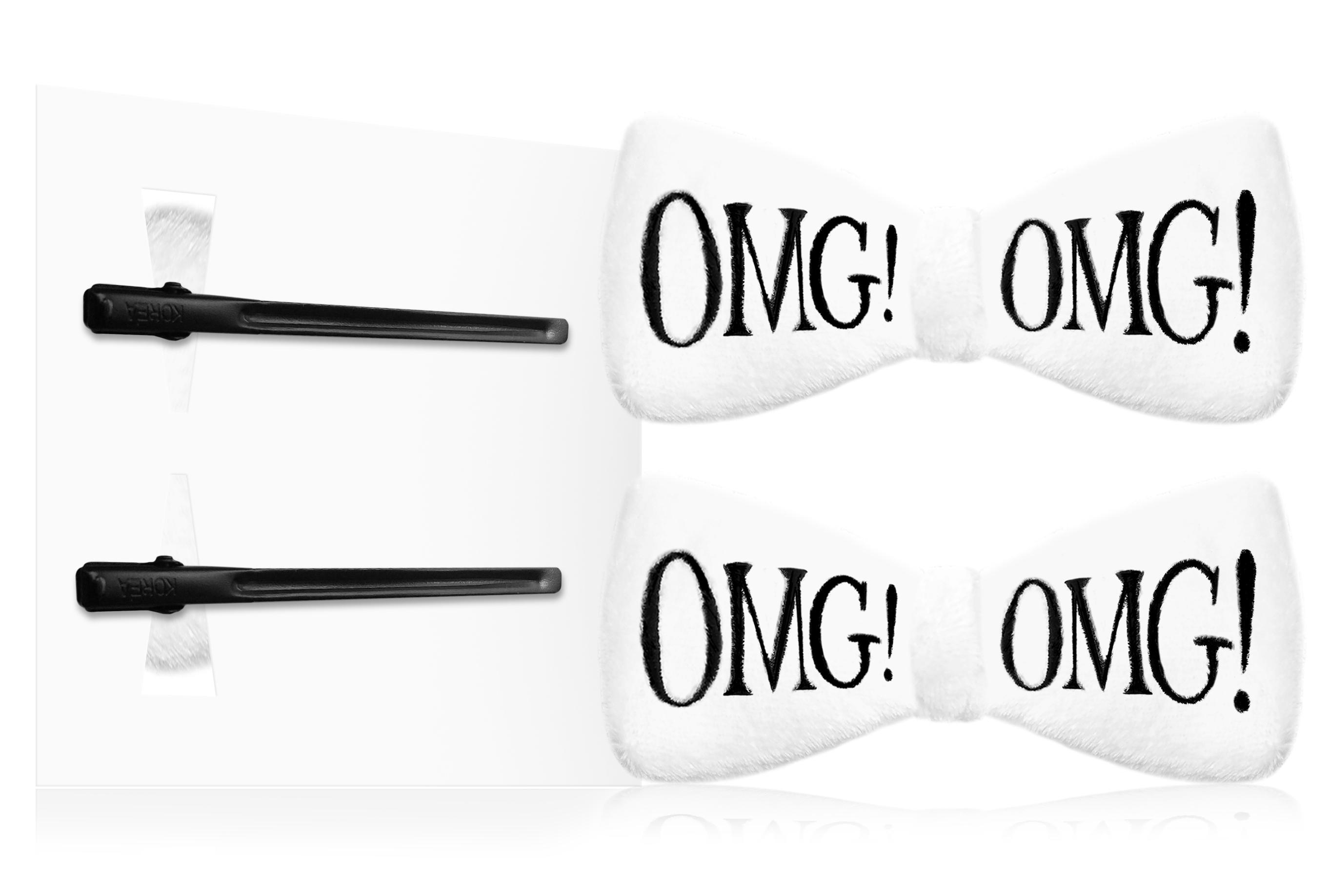 DOUBLE DARE OMG! Заколки для фиксации волос во время косметических процедур, белые / SPA -  Зажимы