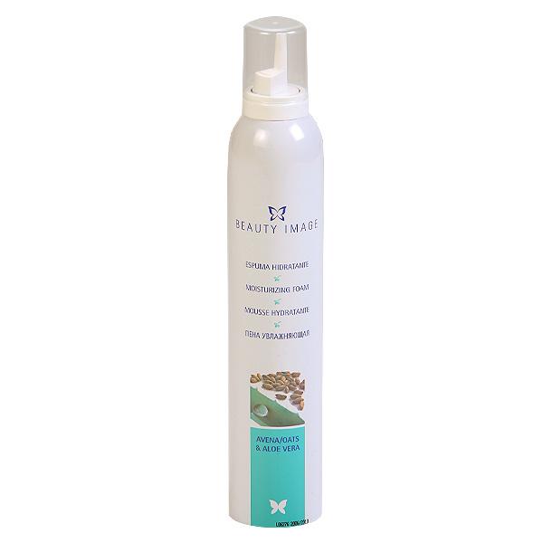 BEAUTY IMAGE Пена увлажняющая для сухой и чувствительной кожи 300млПенки<br>Увлажняющая пена с экстрактом Алоэ Вера и маслом овса, используется после депиляции. Для сухой и чувствительной кожи. Пена снимает раздражение и покраснение, придает коже мягкость, эластичность, препятствует врастанию волос. Рекомендуется как дополнительное завершающее средство для сухой, чувствительной и хрупкой кожи, наносится легкими массажными движениями до полного впитывания. Следуйте инструкции, указанной на упаковке. Перед началом процедуры нанесите пену на небольшой участок кожи, следуя инструкции. Если в течение 24 часов не появилось никакой аллергической реакции, пену можно использовать. Способ применения: Пена применяется в завершении процедуры депиляции. Выдавите небольшое количество пены в ладонь и нанесите на кожу легкими массажными движениями до полного впитывания. Используйте после масла цветочного. Меры предосторожности: Баллон находится под давлением. Избегайте попадания прямых солнечных лучей, храните препарат при температуре не выше 500 С. Не вскрывайте баллон даже после использования. Не распыляйте вблизи открытого огня. Только для наружного применения! Беречь от детей и попадания на слизистые оболочки. Противопоказания: Индивидуальная непереносимость компонентов препарата.<br><br>Типы кожи: Сухая и чувствительная
