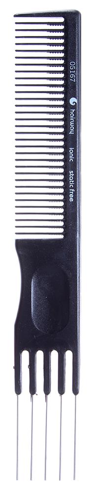 HAIRWAY Расческа HW вилка метал.-Расчески<br>Расческа Hairway вилка металлическая 195 мм. Расческа ионная, изготовлена из термостойкого пластика, обладает антистатичным действием.<br>