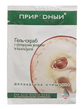 ПРИРОДНЫЙ ЭЛЕМЕНТ Гель-скраб с гранулами жожоба и календулой (1х10мл)