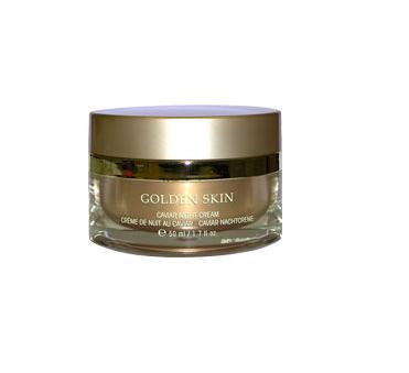 ETRE BELLE Ночной крем Золото + Икра / Golden Skin 50млКремы<br>Высококачественный насыщающий крем для улучшения текстуры кожи. Золото и Икра предотвращают обезвоживание кожи, восстанавливают природный уровень влаги. Кожа становится мягкой, гладкой и подтянутой. Концентрация и глубина морщин значительно снижается, кожа вновь приобретает гладкость и эластичность Показание: для всех типов кожи требующей регенерации Активные вещества: Матриксил, креатин, церамиды, Икра осетровых рыб, 24-каратное золото, пшеничный протеин, витамин Е, витамин А, олигопептиды, гликопротеины, экстракт меда, цитопептиды Способ применения: Ночной крем наносится на очищенную кожу массирующими движениями до полного его впитывания.<br><br>Назначение: Морщины<br>Время применения: Ночной