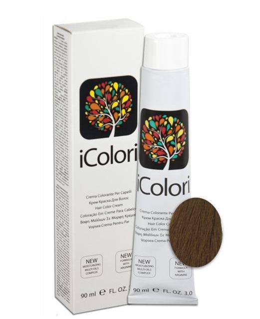 KAYPRO 7.3 краска для волос, блондин золотистый / ICOLORI 90млКраски<br>Инновационный стойкий краситель с минимальным содержанием аммиака. Так же содержит Аргинин, применение которого в профессиональных косметических средствах направлено на стимулирование роста волос, расширение сосудов кожи головы, способствует улучшению кровоснабжения и общему оздоровлению волосяного покрова. После окрашивания волосы становятся более блестящими и шелковистыми, цвет держится дольше. Все цвета можно смешивать между собой для получения широкого диапазона цветов. Крем-краска обладает повышенной степенью увлажнения, равномерной плотностью и стойкостью цвета - естественные цвета с богатыми тонами. Краситель был специально разработан, чтобы защитить волосы и кожу головы во время окрашивания. Легкий в применении. Способ применения: внимательно прочитайте инструкцию на упаковке! Всегда наносится на сухие немытые волосы! Не использовать металлические емкости для смешивания! Всегда одевать защитные перчатки! Провести предварительно тест на чувствительность. Определить натуральный уровень тона волос или уровень косметического тона окрашенных волос. Выберите желаемый цвет. Подготовить красящую смесь с наиболее подходящим процентом перекиси водорода iColori: 10 vol (3%) — 20 vol (6%) — 30 vol (9%) — 40 vol (12%). &amp;nbsp; Действие &amp;nbsp; Результат &amp;nbsp; Пропорции смешивания &amp;nbsp; &amp;nbsp;Оксидант &amp;nbsp; Время выдержки &amp;nbsp; Тон осветления &amp;nbsp; Перманентное окрашивание &amp;nbsp; 100&amp;nbsp;% окрашивание седых волос &amp;nbsp; 1:1,5 &amp;nbsp; 10-20-30-40 Vol &amp;nbsp; 30-40 &amp;nbsp; 1-3 &amp;nbsp; Осветление &amp;nbsp; &amp;nbsp; 1:2 &amp;nbsp; 40&amp;nbsp;Vol &amp;nbsp; 40-50 &amp;nbsp; 4 &amp;nbsp; Тонирование &amp;nbsp; Окрашивание седых волос на&amp;nbsp;70&amp;nbsp;% &amp;nbsp; 1:2 &amp;nbsp; 7&amp;nbsp;Vol &amp;nbsp; 20-25 &amp;nbsp; - Основные принципы теории цвета. Основные цвета: красный, желтый и синий. Путем смешивания основных цветов в равных ча