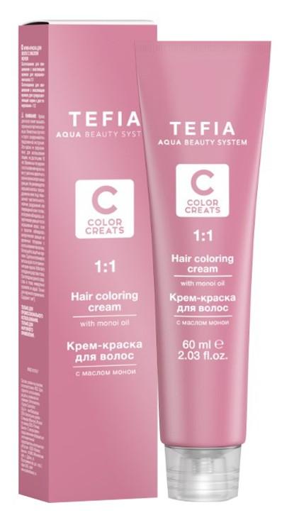 TEFIA 10.1 краска для волос, экстра светлый блондин пепельный / Color Creats 60 мл