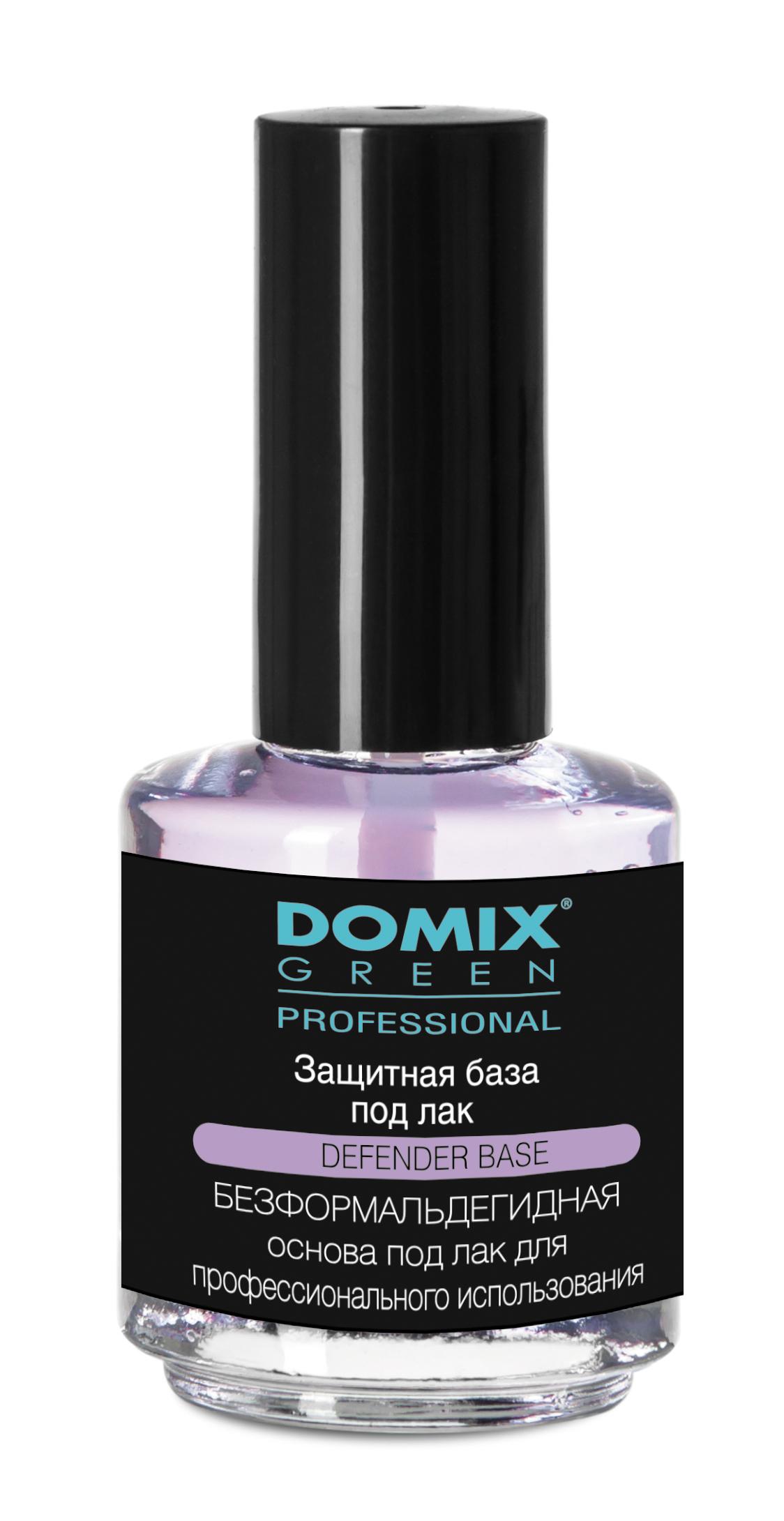 DOMIX База под лак / DGP 75млБазовые покрытия<br>Создает прочный защитный слой на ногтевой пластине, предохраняя от неблагоприятного воздействия окружающей среды, и препятствует отрицательному воздействию цветного лака. Особенно рекомендуется для уставших, ослабленных цветным лаком ногтей. Способ применения: нанести препарат на чистые сухие ногти: один слой   идеальная основа под маникюр; два слоя   великолепный бесцветный маникюр.<br>