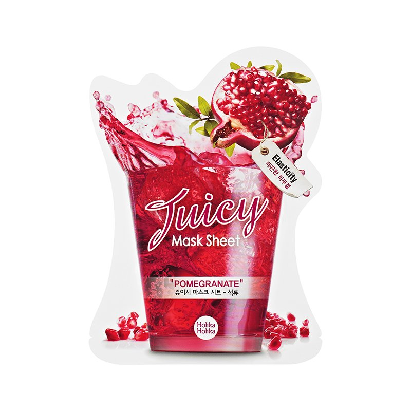 "HOLIKA HOLIKA Маска тканевая для лица (сок граната) ""Джуси Маск"" / Juicy Mask Sheet Pomegranate 20мл"