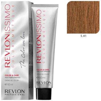REVLON Professional 5.4 краска для волос, светло-коричневый медный / RP REVLONISSIMO COLORSMETIQUE 60 мл revlon краситель перманентный 7 44 блондин гипер медный rp revlonissimo colorsmetique 60 мл
