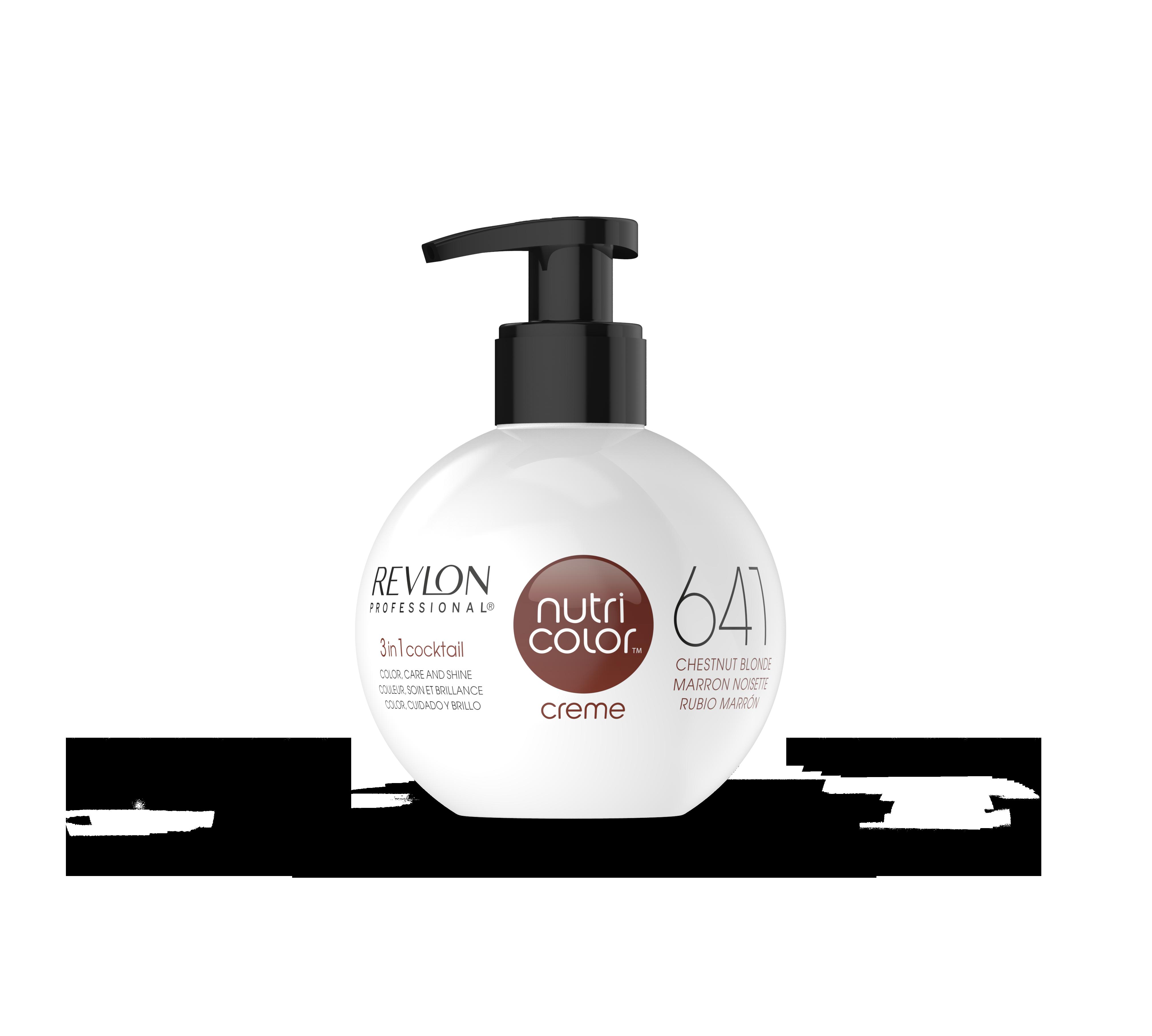 REVLON Professional 641 краска 3 в 1 для волос, каштановый светлый / NUTRI COLOR CREME 270 мл электрощипцы для волос valera conix 13 25mm 641 02