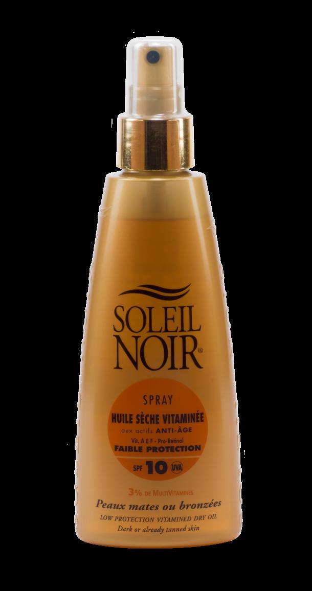 """SOLEIL NOIR Масло-спрей сухое антивозрастное витаминизированное """"Интенсивный загар"""" SPF10 / HULE SECHE VITAMINEE 150мл"""