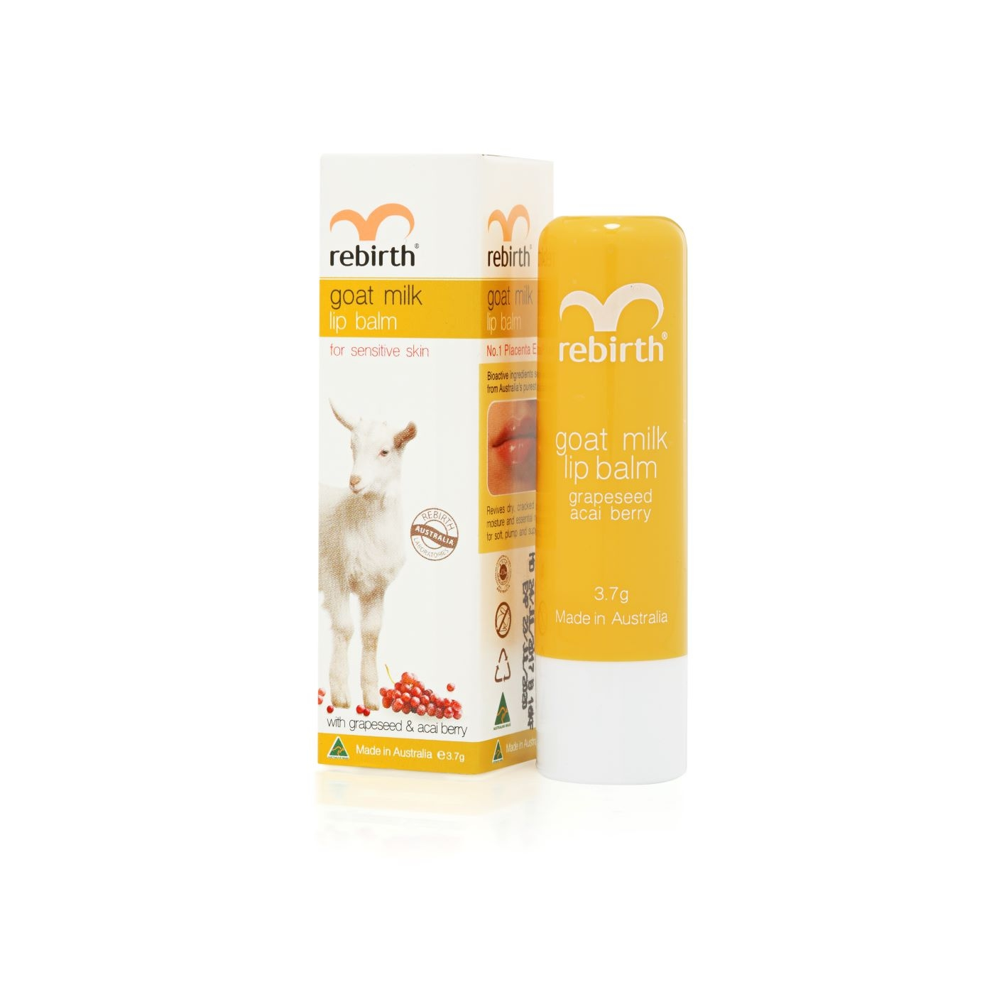 REBIRTH Бальзам для губ с экстрактом козьего молока / Goat Milk Lip Balm 3, 7 г  - Купить