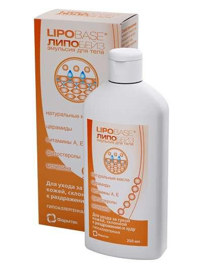 ФАРМТЕК Эмульсия для тела Lipobase 250млЭмульсии<br>ЛИПОБЕЙЗ - медицинский уход за кожей при различных дерматитах и экземе. Устраняет сухость, раздражение и зуд. Насыщает кожу физиологическими липидами и церамидами. Восстанавливает защитную функцию кожи. Смягчает кожу и делает ее эластичной и гладкой. Показания к применению: выраженная сухость кожи, сопровождающаяся шелушением и (или) зудом; выраженная сухость кожи, сопровождающаяся раздражением; сухость и раздражение кожи после пребывания на холоде, солнце или в солярии; восстановление кожи после интенсивных косметологических или лечебных воздействий (пилинги, чистки, гормональные мази и кремы); уход за кожей при хронических дерматитах и экземе в период обострения и вне обострения. Не содержит отдушек и красителей Активные ингредиенты: натуральные масла: оливковое, авокадо, жожоба, ши; церамиды, фитостеролы, мочевина, витамины А, Е. Способ применения: наносите тонкий слой эмульсии на чистую кожу всего тела после каждого принятия ванны или душа. Длительность применения не ограничена.<br>