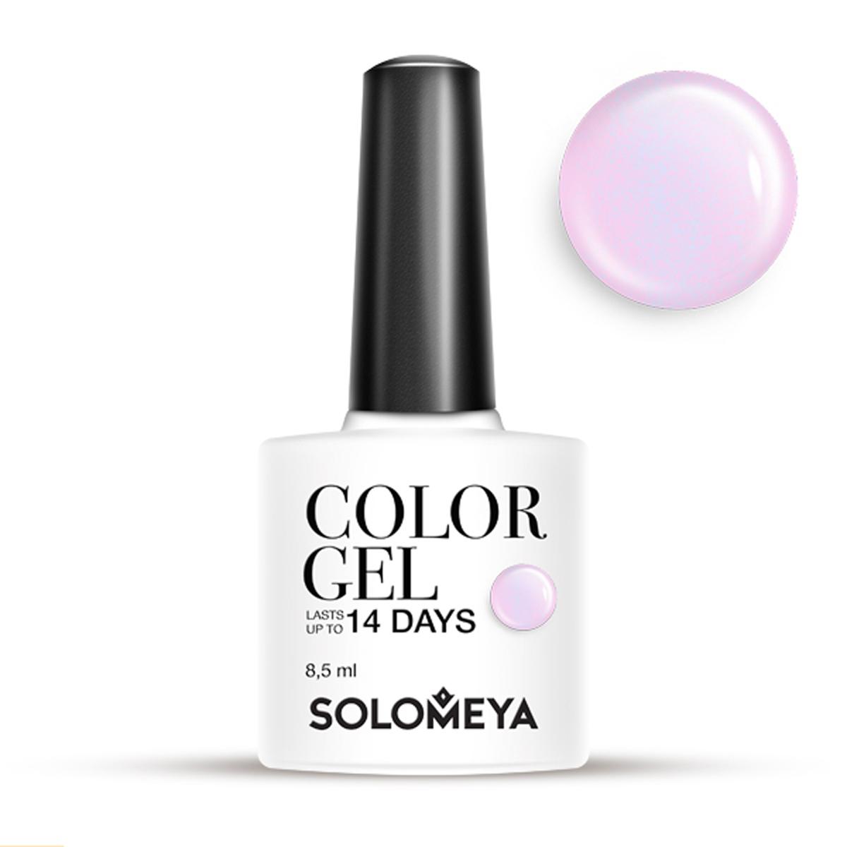 SOLOMEYA Гель-лак для ногтей SCG124 Розоватый / Color Gel Pinkish 8,5мл гель лак для ногтей solomeya color gel beret scg034 берет 8 5 мл