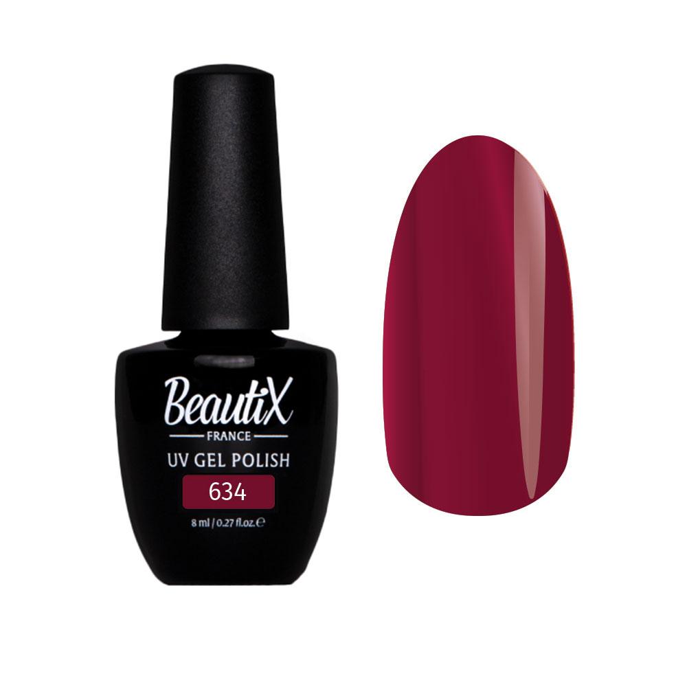 Купить BEAUTIX 634 гель-лак для ногтей 8 мл, Красные