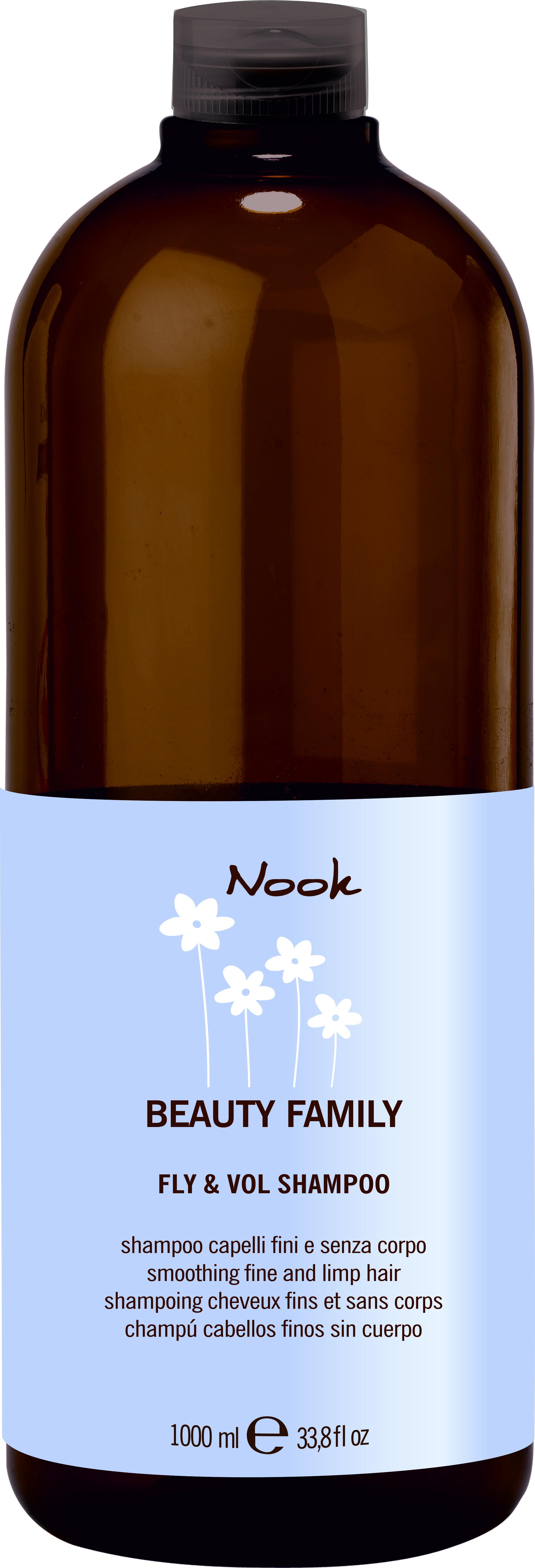 NOOK Шампунь для тонких и слабых волос Ph 5,5 / Fly  Vol Shampoo BEAUTY FAMILY 1000 мл