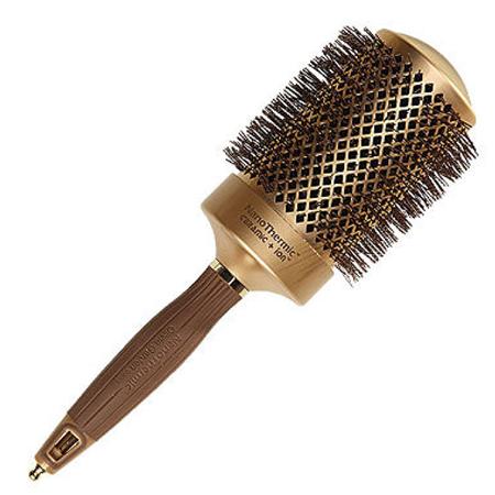 OLIVIA GARDEN Термобрашинг Nano Thermic 64мм / Olivia GardenТермобрашинги<br>Технология нано-керамик-ион имеют антибактериальную, антистатическую защиту, придавая блеск волосам. Продувная нано-керамическая трубка, позволяет легко структурировать красивую и чрезвычайно прочную прическу. Нейлоновая, жаростойкая, гофрированная щетина, безопасна для волос и кожи головы. Эргономичная, противоскользящая удобная рукоятка. Разделитель прядей. Нано-керамический корпус обеспечивает быстрый прогрев, интенсивную теплоотдачу и быстро просушивает локоны волос, сокращая тем самым время сушки. Применение: Используйте брашинг вместе с феном для сушки, укладки, выпрямления, полировки волос или создания объема.<br>