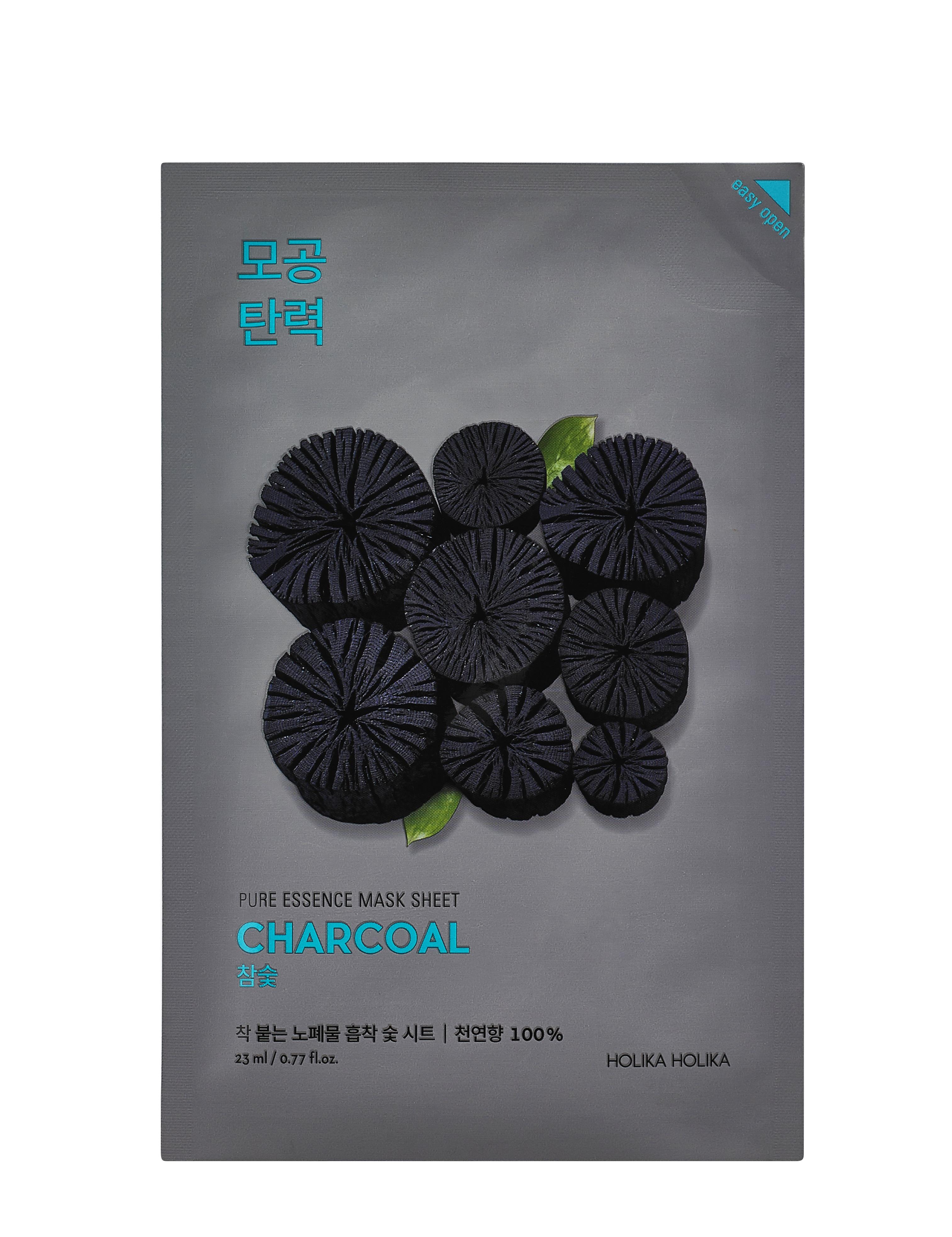 Купить HOLIKA HOLIKA Маска тканевая успокаивающая для лица с углем / Pure Essence Mask Sheet Charcoal 20 мл