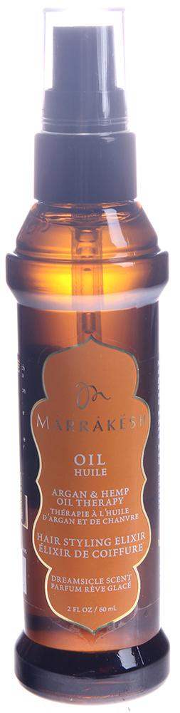 MARRAKESH Масло восстанавливающее для тонких волос Dreamsicle / Marrakesh Oil Dreamsicle 60 млМасла<br>Линия Dreamsicle - бодрящее сочетание эфирного масла мандарина и фитоактивов сливы. Масло Marrakesh это мощный коктейль, обогащённый питательными веществами арганового масла из Марокко и ультра укрепляющего конопляного масла существенно улучшает состояние и текстуру волос. Вы получите гладкие шелковистые волосы с глянцевым блеском без выбивающихся локонов. А так же это удивительное средство позволит сократить время укладки Ваших шикарных волос вдвое. Способ применения: нанесите небольшое количество на влажные или сухие волосы. Расчешите для равномерного распределения. Можете так же добавить несколько капель масла в Ваше любимое средство ухода.<br><br>Объем: 60 мл