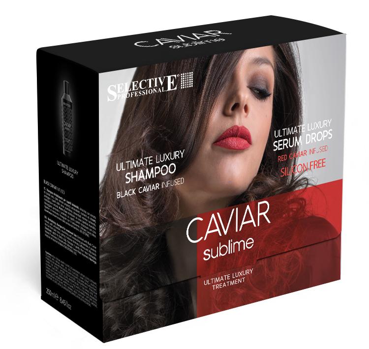 SELECTIVE PROFESSIONAL Набор для волос (шампунь 250мл + сыворотка восстанавливающая 6*10мл) / CAVIAR SUBLIME