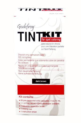 GODEFROY Краска-хна в капсулах для бровей, набор проф (тем-коричневый) (L) / Godefroy PRO KIT Dark Brown