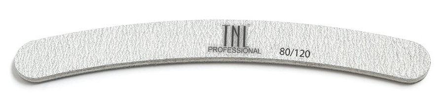 Купить TNL PROFESSIONAL Пилка бумеранг для ногтей 80/120, серая (в индивидуальной упаковке)