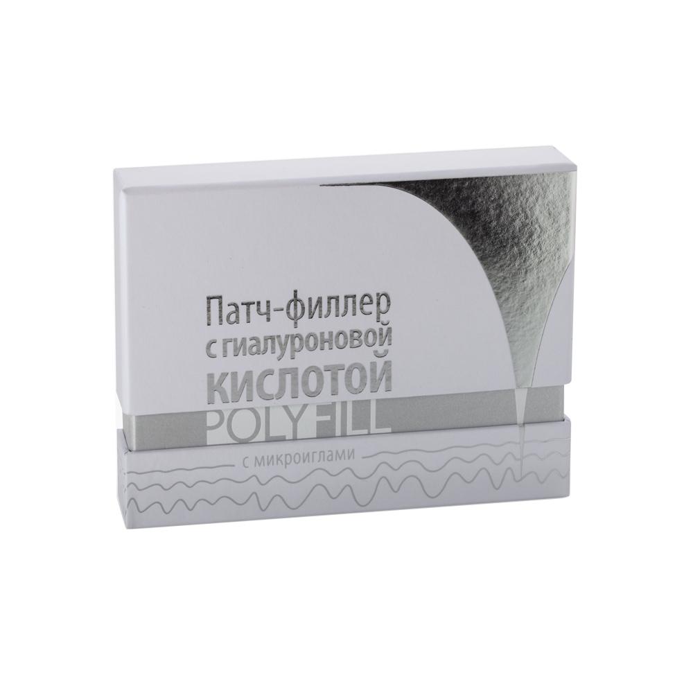 PREMIUM Патч-филлер с гиалуроновой кислотой / Polyfill 4 пары/уп (8шт) -  Патчи