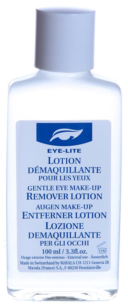 MAVALA Лосьон для снятия макиажа с глаз / Gentle Eye Make up Remover 100млЛосьоны<br>Область вокруг глаз является самой незащищенной частью кожи лица, и чтобы избежать раздражения она нуждается в дополнительной защите и увлажнении. Нежная нежирная формула позволяет особенно легко удалить остатки неводостойкого макияжа.  Способ применения: Смочите ватные диски Лосьоном для Снятия Макияжа с Глаз. Не прикладывая усилий, нежным круговым движением протрите область возле бровей, затем над веком и ресницами. Не содержит отдушек и красителей.<br><br>Консистенция: Нежирная