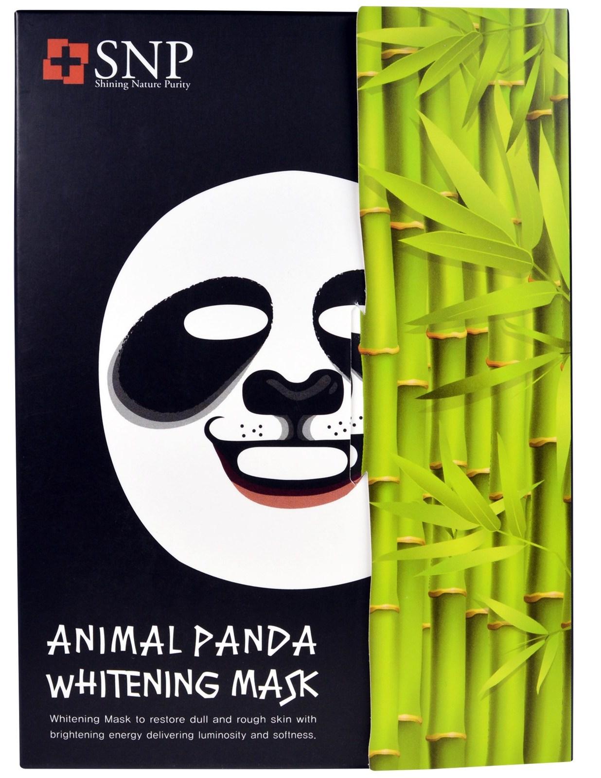 SNP Маска осветляющая для лица / Animal Panda Whitening Mask 25 мл