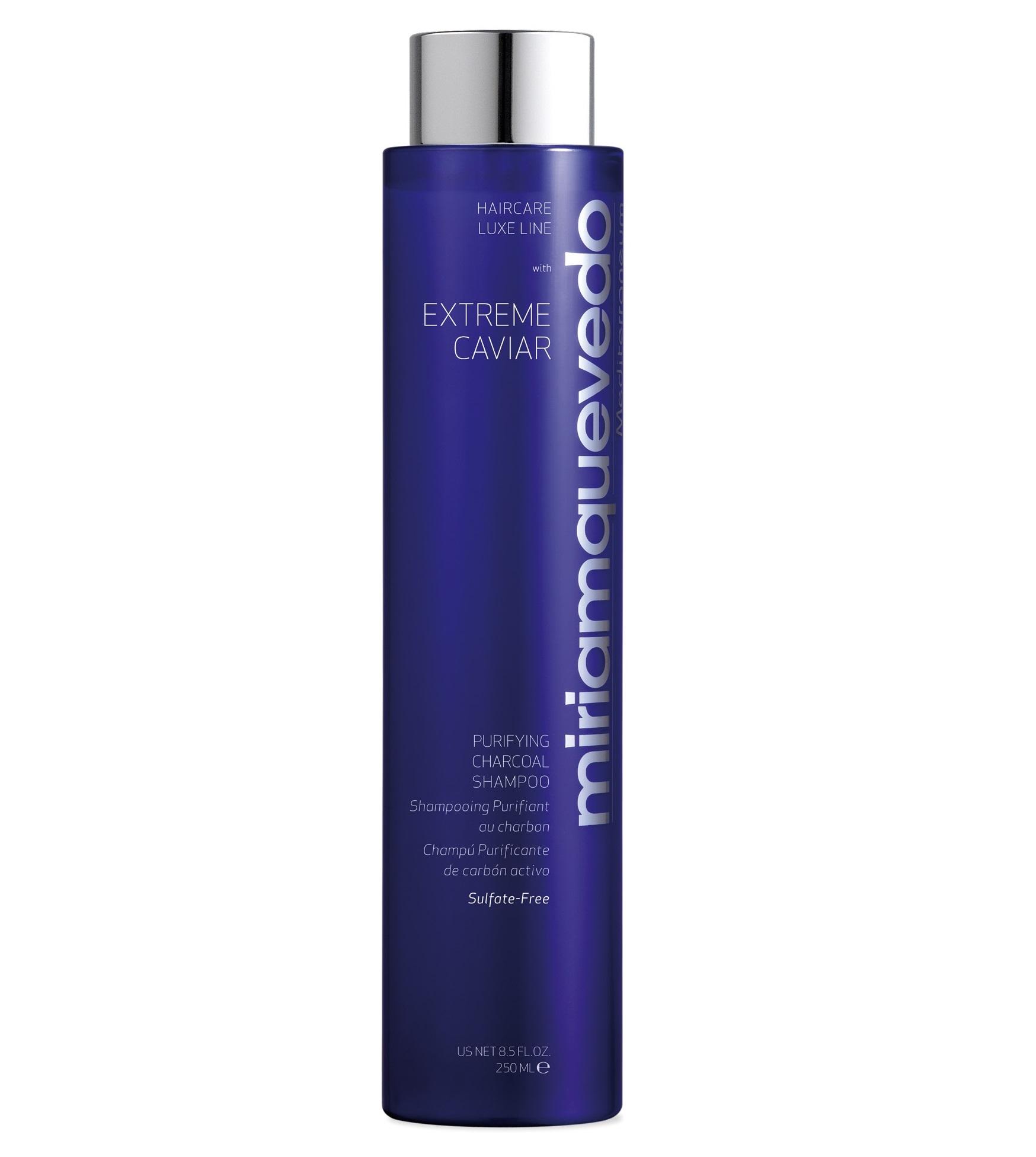 MIRIAM QUEVEDO Шампунь с экстрактом черной икры и углем для глубокого очищения / Extreme Caviar Purifying Charcoal Shampoo 250 мл.