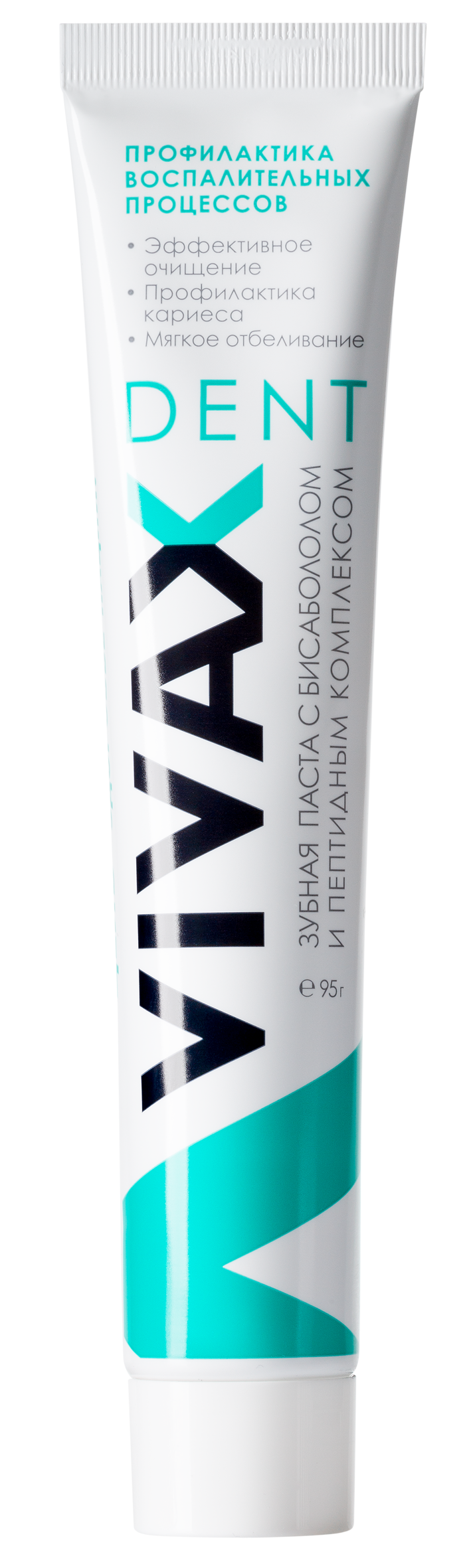 VIVAX Зубная паста с Бисабололом / VIVAX Dent 75млОсобые средства<br>ПРОФИЛАКТИКА. АКТИВНОЕ ОЧИЩЕНИЕ. ОТБЕЛИВАНИЕ ЗУБОВ. Рекомендовано: для эффективного решения проблемы профилактики кариеса, для препятствия образования зубной бляшки и минерализованных над- и поддесневых зубных отложений, для профилактики и в составе комплексного лечения всех форм гингивита, пародонтита и стоматита. Сочетанное воздействие пептидов тимуса (АК-1 Синтетический аналог тималина), пептидов сосудов (АК-7) и Бисаболола, придает зубной пасте выраженный противовоспалительный эффект. Под воздействием пептидов тимуса &amp;laquo;VIVAX&amp;raquo; стимулирует местный иммунитет полости рта, оказывает антиоксидантное и антистрессорное действие. Входящие в состав пасты пирофосфаты препятствуют фиксации микроорганизмов на поверхности зубов. Пептиды сосудов значительно ускоряют регенерацию и заживление слизистой оболочки полости рта и ткани десны, нормализуют обменные процессы и микроциркуляцию крови в тканях пародонта. Бисаболол оказывает успокаивающее действие. Входящие в состав пасты аморфные силикаты активно способствуют очищению полости рта и удалению зубного камня. &amp;laquo;VIVAX&amp;raquo; мягко отбеливает зубы, снижая пигментацию эмали и сглаживая микротрещины эмали. Нейтрализует кислоту, образующуюся после приема пищи. Обладает приятным вкусом и освежает дыхание. Состав: вода очищенная, сорбитол, гидратированный диоксид кремния, натрия пирофосфат, натрия лаурилсульфат, ароматическая добавка, 1,3 бутиленгликоль, диоксид титана, метилпарабен, пропилпарабен, этилпарабен, аспартам, сахарин, Бисаболол, пептидные комплексы АК-1 и АК-7. Способ применения: Небольшое количество зубной пасты нанести на мягкую зубную щетку. Чистить зубы круговыми движениями, одновременно аккуратно массируя десны. Полость рта ополоснуть небольшим количеством воды, задерживая ее на 20-30 секунд.<br><br>Тип: Зубная паста