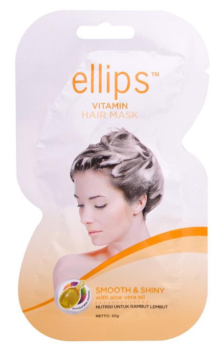 Купить ELLIPS Маска с маслом алоэ вера и витаминами для светлых волос / Smooth & Shiny 20 г