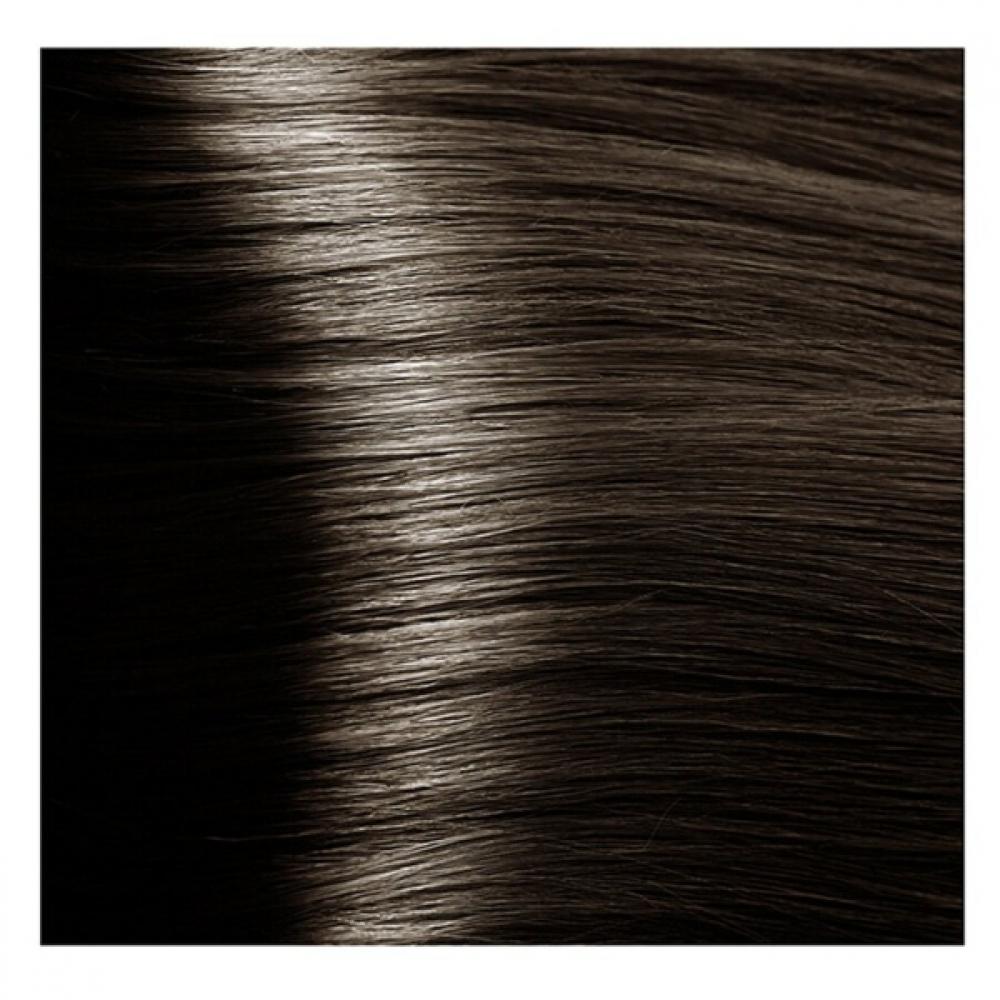 KAPOUS NA 6.81 краска для волос, темный коричнево-пепельный блонд / Magic Keratin 100 мл
