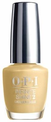OPI Лак для ногтей Enter the Golden Eras / Infinite Shine Nail Lacquer 15млЛаки<br>Новый лак для ногтей Инфинити шайн дает насыщенный цвет и глянцевый блеск, к тому же легко удаляется обычным средством для снятия лака. OPI выпускает новую трехступенчатую систему лаков для ногтей с гелевым эффектом Infinite Shine Gel Effects Lacquer System, благодаря которой маникюр сохранит свою стойкость до 10 дней без необходимости использования лампы. Способ применения: маникюр делается с помощью трехступенчатой системы: сначала наносится базовое покрытие Infinite Shine Primer (шаг 1) для предотвращения окрашивания ногтевой пластины и для продления стойкости маникюра,&amp;nbsp; затем наносится цветной лак (шаг 2),&amp;nbsp; и в конце маникюр завершается верхним покрытием Infinite Shine Gloss (шаг 3), которое высыхает при естественном освещении, без использования специальной лампы.&amp;nbsp; Такой маникюр можно легко удалить с помощью средства для снятия лака.<br><br>Цвет: Желтые<br>Объем: 15 мл