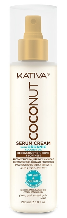KATIVA Крем-сыворотка восстанавливающая с органическим кокосовым маслом для поврежденных волос / COCONUT 200 мл  - Купить
