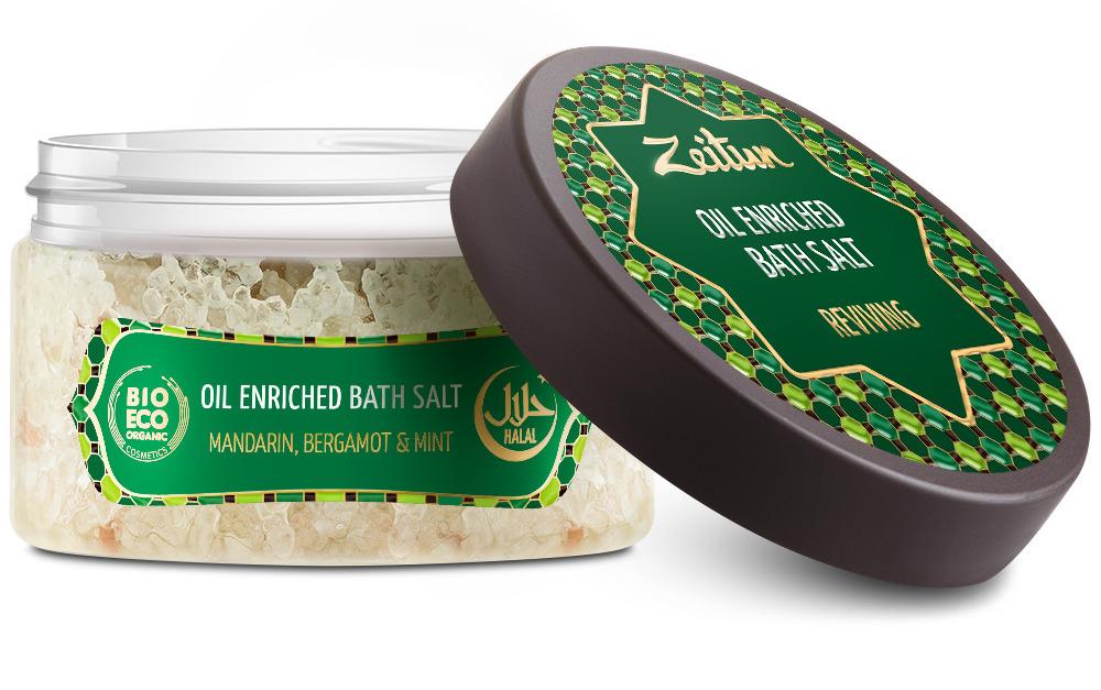 ZEITUN Аромасоль для ванн Тонизирующая (бергамот, мандарин, мята) 250 г