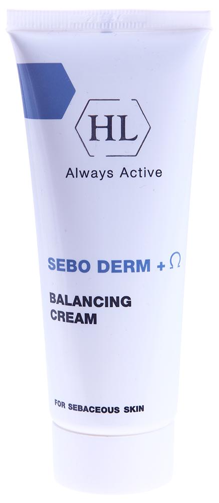 HOLY LAND Крем Себо дерм / Sebo Derm CREAMS 70млКремы<br>Эффективный препарат для ухода за жирной и очень жирной кожей, а также против себорейного дерматита, в т.ч. на коже волосистой части головы. Антисеборейная активность крема Sebo Derm доказана клиническими испытаниями, которые показали следующие результаты: через месяц постоянного использования препарата продукция кожного сала снижается на 27%, а салоотделение в среднем на 35-38%. Кроме этого, при исследовании активности препарата в отношении акне доказано существенное улучшение состояния кожи: через месяц постоянного использования препарата количество открытых и закрытых комедонов и папуло-пустулезных элементов уменьшается на 20-30%. Нормализует функцию сальных желез, уменьшает салообразование и салоотделение.  Антибактериальное, противогрибковое и противовоспалительное действие.  Стягивает поры, устраняет жирный блеск.  Успокаивает раздраженную кожу.  Поддерживает нормальный уровень влажности кожи.  Активные ингредиенты:  Ферменты лактопероксидаза и лактоферрин обладают антибактериальным и антимикотическим действием в отношении Propionibacterium acne и Pityrosporum ovale, играющих значительную роль в развитии себорейного процесса.  Экстракт герани обладает бактерицидным действием, регулирует продукцию кожного сала, увлажняет кожу.  Гель алоэ обладает бактерицидным, противовоспалительным, заживляющим действием, является прекрасным увлажнителем, стимулирует кожный иммунитет и регенерацию, обеспечивает многоуровневую защиту кожи.  Омега-6&amp;ndash;кислоты обладают выраженным антикомедогенным действием, способствуют восстановлению целостности кожного барьера. Способ применения: Наносить препарат 2 раза в день на очищенное лицо: при жирной коже &amp;mdash; после лосьона DOUBLE ACTION Face Lotion, при сухой коже   после лосьона AZULEN Lotion. При себорее кожи волосистой части головы препарат используется в комбинации с ихтиоловым мылом DOUBLE ACTION Soapless Soap и лосьонами DOUBLE ACTION и A-NOX. Примечание: Преп