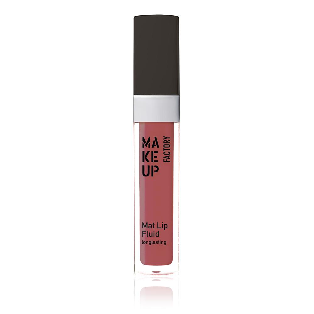 MAKE UP FACTORY Блеск-флюид матовый устойчивый, 65 нежная малина / Mat Lip Fluid longlasting 6,5 мл - Блески для губ
