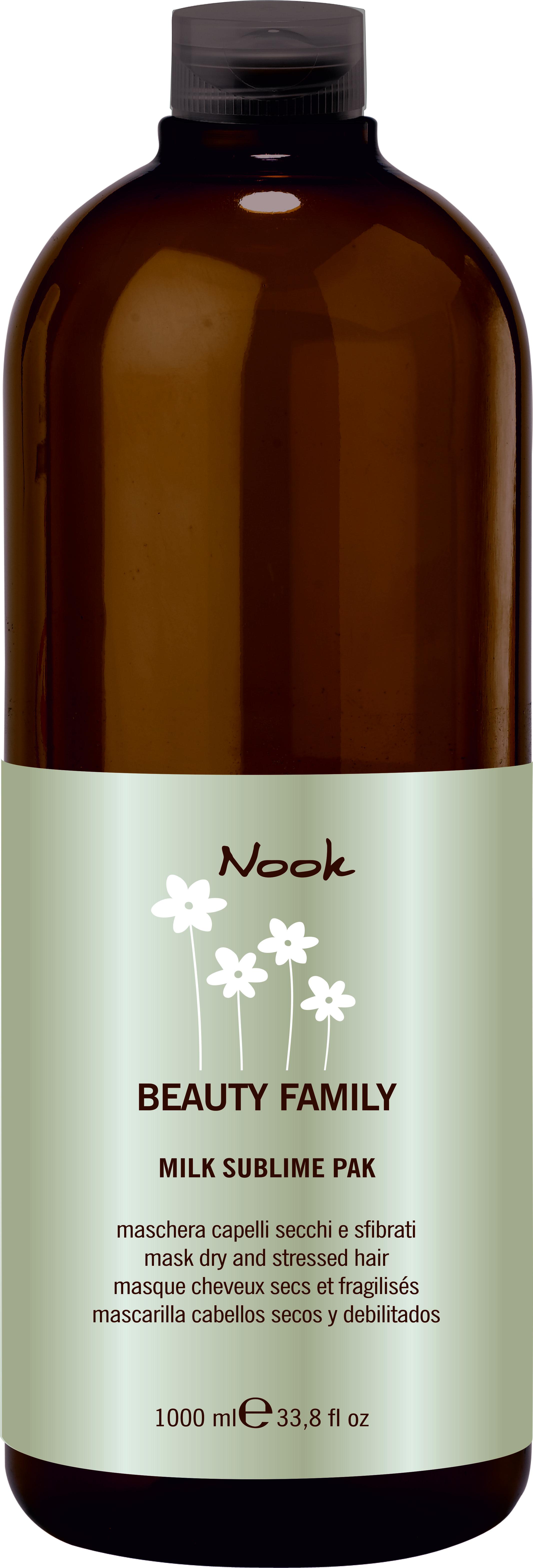 NOOK Маска для поврежденных волос Ph 4,7 / Milk Sublime Pak BEAUTY FAMILY 1000 мл carmen d or масло д быстрого загара гавайи с экстрактом экзотических фруктов витаминный коктейль