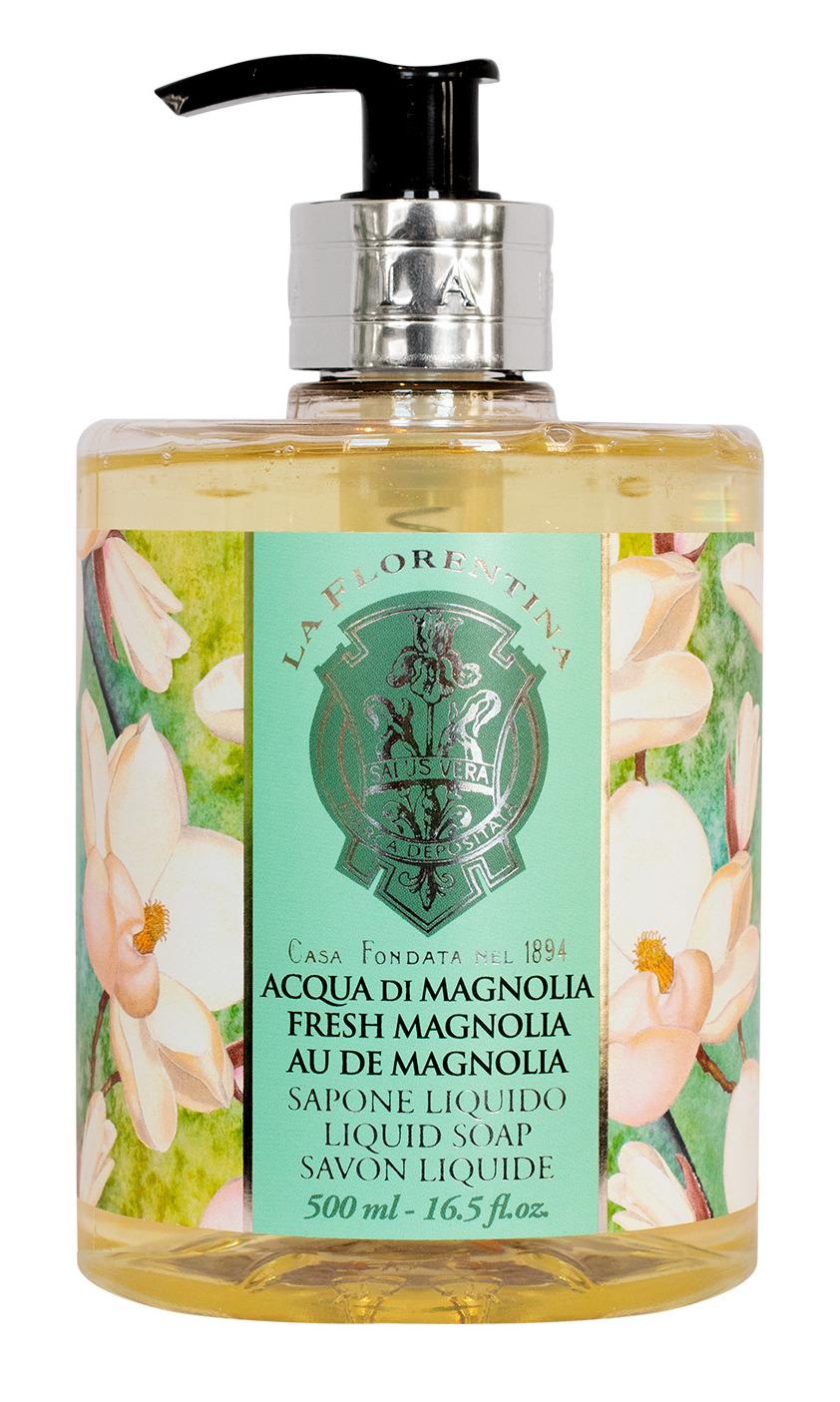 Купить LA FLORENTINA Мыло натуральное жидкое, свежая магнолия / Fresh Magnolia 500 мл