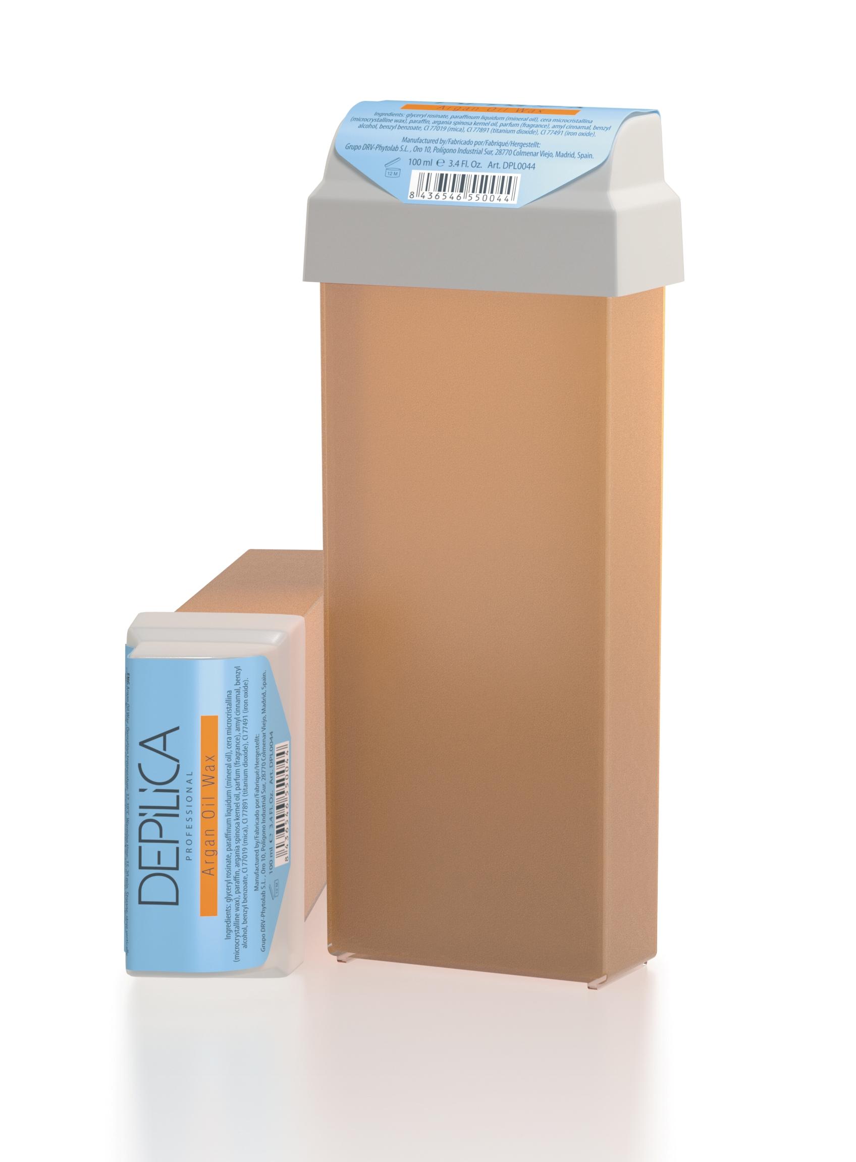 DEPILICA PROFESSIONAL Воск теплый с маслом арганы / Argan Oil Warm Wax 100млВоски<br>Содержит аргановое масло, противовоспалительные и восстанавливающие свойства которого обеспечивают комфортную эпиляцию, увлажнение и питание кожи. Обладает полупрозрачной перламутровой текстурой и восточным ароматом. Рекомендуется для сухой кожи. Универсальные картриджи воска подходят для всех стандартных нагревателей. Они оснащены роликом-аппликатором что очень удобно для быстрого и чистого нанесения.<br><br>Типы кожи: Сухая