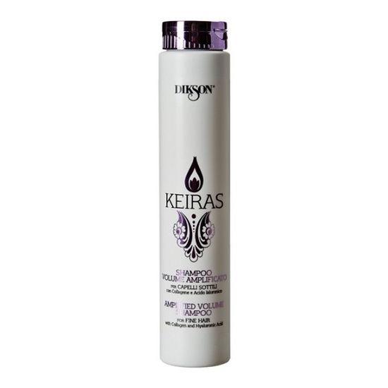 DIKSON Шампунь увеличение объема для тонких волос / SHAMPOO VOLUME AMPLIFICATO KEIRAS 250млШампуни<br>Уникальный шампунь для тонких волос. Коллаген придаёт силу тонким волосам. Гиалуроновая кислота обеспечивает питание и увлажнение, способствует регенерации фолликула волоса. Деликатное очищение и объём, волосы мягкие как шёлк, здоровые и сияющие. Активные ингредиенты: Состав: Вода, Коллаген и Гиалуроновая кислота. Способ применения: Нанести небольшое количество шампуня на волосы лёгкими массажными движениями, вспенить, затем смыть водой.<br><br>Типы волос: Тонкие