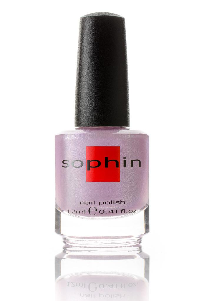 SOPHIN Лак для ногтей, светло-сиреневый 12млЛаки<br>Коллекция лаков SOPHIN очень разнообразна и соответствует современным веяньям моды. Огромное количество цветов и оттенков дает возможность создать законченный образ на любой вкус. Удобный колпачок не скользит в руках, что облегчает и позволяет контролировать процесс нанесения лака. Флакон очень эргономичен, лак легко стекает по стенкам сосуда во внутреннюю чашу, что позволяет расходовать его полностью. И что самое главное - форма флакона позволяет сохранять однородность лаков с блестками, глиттером, перламутром. Кисть средней жесткости из натурального волоса обеспечивает легкое, ровное и гладкое нанесение. Big5free! Активные ингредиенты. Состав: ethyl acetate, butyl acetate, nitrocellulose, acetyl tributyl citrate, isopropyl alcohol, adipic acid/neopentyl glycol/trimellitic anhydride copolymer, stearalkonium bentonite, n-butyl alcohol, styrene/acrylates copolymer, silica, benzophenone-1, trimethylpentanedyl dibenzoate, polyvinyl butyral.<br>