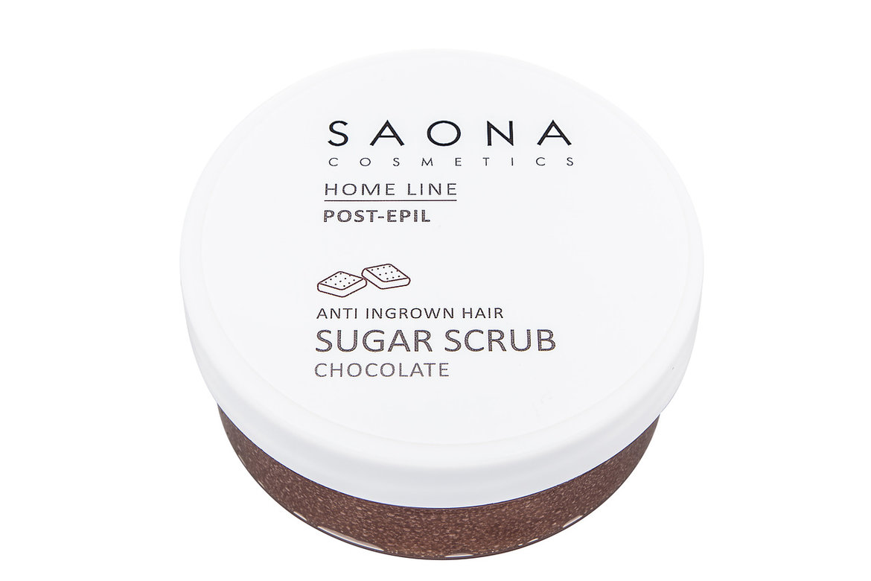 SAONA COSMETICS Скраб сахарный шоколадный против вросших волос / Home Line 300 мл