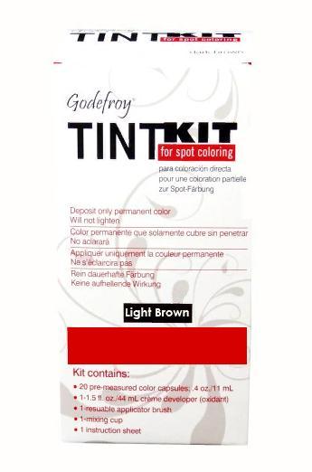 GODEFROY Краска-хна в капсулах для бровей с эффектом татуажа, светло-коричневый / TINT KIT Light Brown 80 шт
